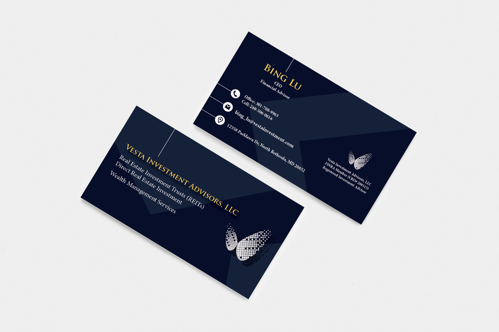 Vesta investment business card business yidan xie filed under graphic design colourmoves